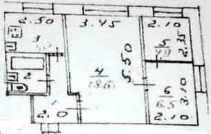 Планировка. Продам/Сдам, 3-х комнатная квартира Кондрово Комсомольская дом 19 - 1 100 000 ₽. 8-920-885-8888