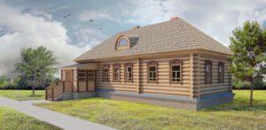 """Образец дома для строительства в """"Национального парка Угра"""""""
